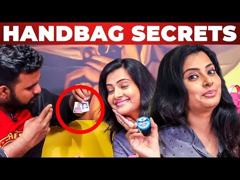 Azhagu Serial Actress Shruthi Raj's Handbag Secrets Revealed by VJ Ashiq | What's Inside The Handbag