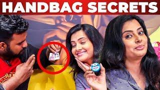 Azhagu Serial Actress Shruthi Raj's Handbag Secrets Revealed by VJ Ashiq | What's Inside The Handbag