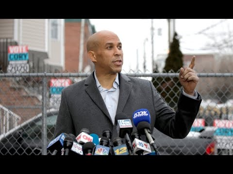 Cory Booker speaks after launching 2020 campaign