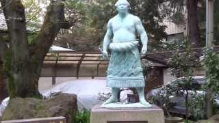 千代の富士像玉林寺谷中