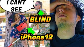 She Flashes Blind Man Then Steals His iPhone12 - To Catch A Thief - AJW