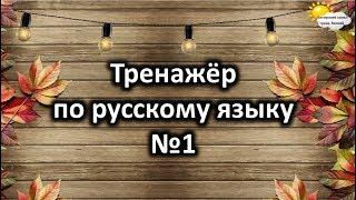 Тренажёр по русскому языку №1. Учимся играя.