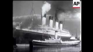 RMS Olympic Begins Last Trip - 1935