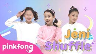 Move like Jeni! 🎶   Jeni Shuffle   Kids Choreography   Performance Video   Pinkfong Kids Pop Dance