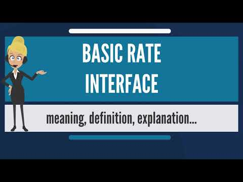 What is BASIC RATE INTERFACE? What does BASIC RATE INTERFACE mean? BASIC RATE INTERFACE meaning