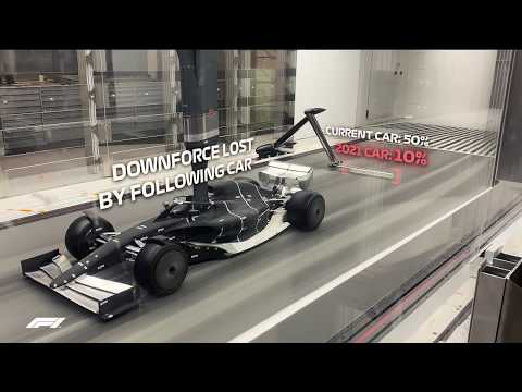 FIRST LOOK: Formula 1's 2021 car in the wind tunnel