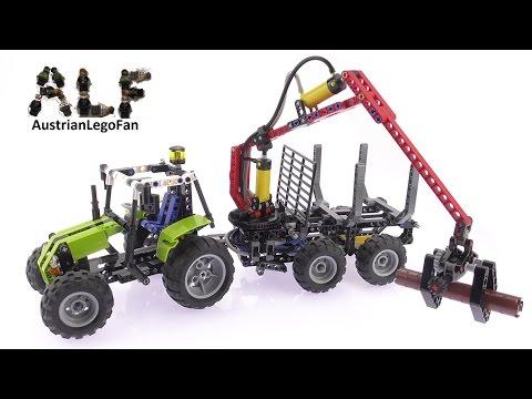 LEGO Technic 8049 pas cher, La chargeuse à bois