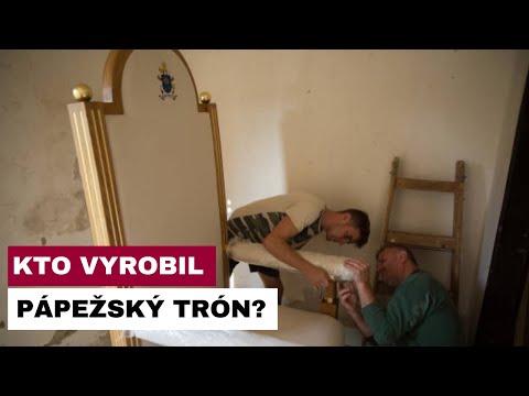 Výrobca pápežského trónu bude vítať pápeža v Prešove