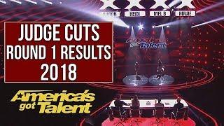 AGT RESULTS - JUDGE CUTS Round 1 |  America's got talent 2018