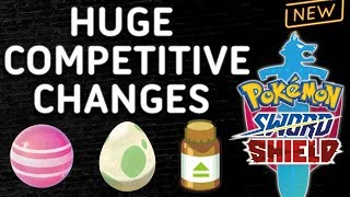 HUGE CHANGES FOR COMPETITIVE POKEMON! NEW ITEMS & FEATURES! Pokemon Sword and Shield! ⚔️🛡