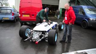 Surtees' Ferrari Arrives in Stafford