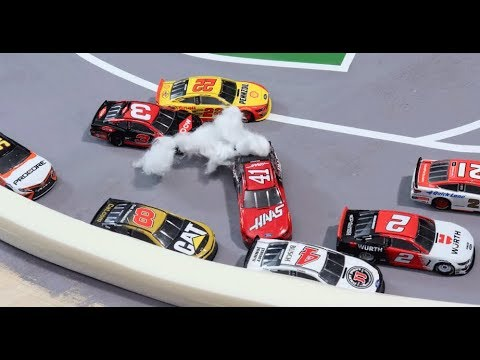 Stop Motion NASCAR: Kansas' crazy Double OT like you've never seen before