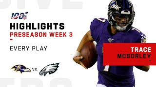 Every Trace McSorley Pass & Run vs. Eagles | NFL 2019 Highlights