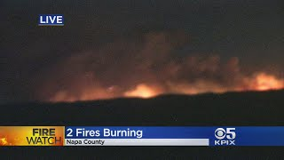Evacuations as fire rips through Napa County, California