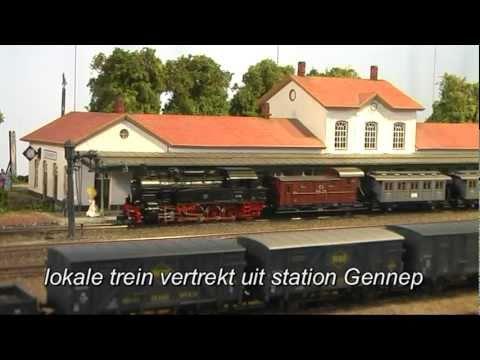 Onze clubbaan van station en emplacement Gennep op Intermodellbau 2011 Dortmund