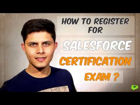 How to register for Salesforce certification exam? - YouTube