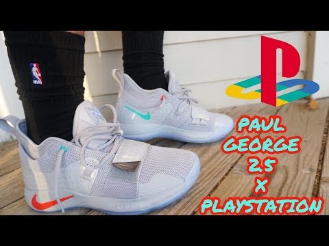 db2d1420cf9 NIKE PLAYSTATION PAUL GEORGE 2.5 WOLF GREY REVIEW + ON FOOT + GLOW TEST