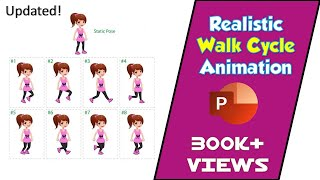 How to Make Realistic Walk Cycle From Still Images in PowerPoint 2016 / 2019 Tutorial