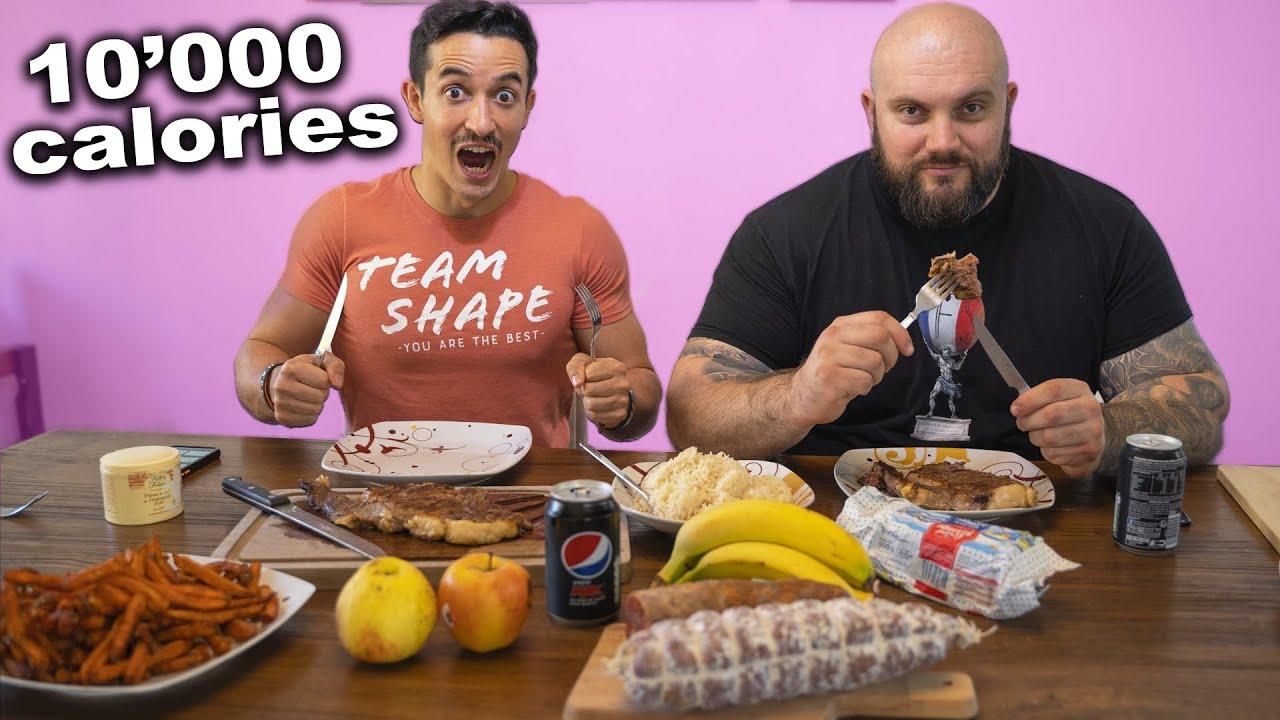Je mange comme l'homme le plus fort de France (+10000 calories)