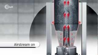 Glatt HS-Wurster-Verfahren für Bottom-Spray-Coating 3D-Animation zum Prozess