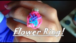 How to make a Rainbow Loom Flower Ring (EASY)