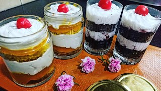 Raksha Bandhan special 2 easy dessert cup cake and  glass cake  eggless dessert idea कप केक