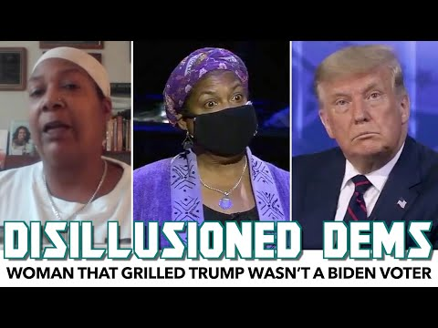 Woman That Grilled Trump Wasn't A Biden Voter