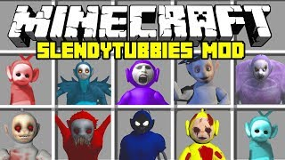 Minecraft SLENDYTUBBIES MOD!   TINKY TANK, POE, TINKY WINKY, Laa Laa & MORE   Modded Mini-Game