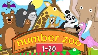 Learn to Count to 20 with Number Zoo | Toddler Fun Learning Collection