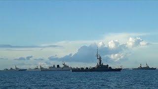 Tàu 011 - Đinh Tiên Hoàng Hải quân Việt Nam tham gia diễn tập trên biển Singapore