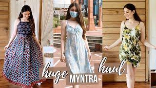 HUGE MYNTRA HAUL   Myntra Try On Haul Review   Latest Myntra Dresses   Sana Grover