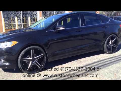 2013 Ford Fusion Rolling out of Rimtyme of Charlotte sitting on 22