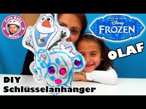 DISNEY FROZEN OLAF | DIY Schlüsselanhänger selber gestalten | Kinderkanal CuteBabyMiley