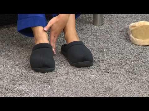 newgen medicals Komfort-Hausschuhe mit thermoaktivem Fußbett Gr. 36-37
