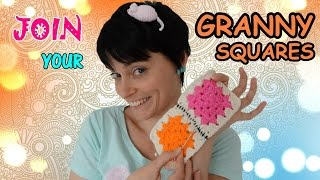 How To Join Granny Squares - Easy Crochet Tutorial For Beginners!