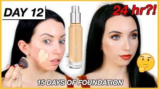 24 HR Ultimate Coverage?! BECCA FOUNDATION! {First Impression Review & Demo!} Dry Skin