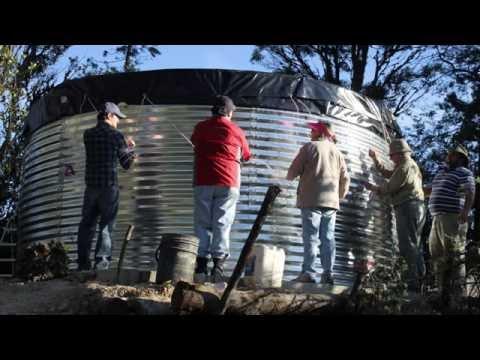Tanque Australiano para almacenamiento de agua Intecmecol - 50 mil litros Dos anillos
