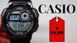 (4K) CASIO DIGITAL MEN'S WATCH REVIEW $14,99 MODEL: AE1000W-1B