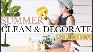 COZY SUMMER CLEAN + DECORATE WITH ME | Hygge + Minimal Summer Decor Inspo, CLEANING MOTIVATION