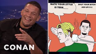 Nate Diaz On His Beef With Justin Bieber    CONAN On TBS