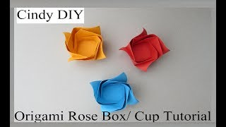 Cupcake Cup: DIY Origami Tutorial & Paper Craft By Cindy DIY