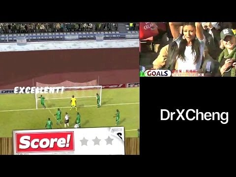 Score! World Goals - 2010s - gameplay & real replay side-by-side [HD]