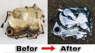 How to Polish Engine Cover | Honda Benly 125cc Engine Cover Restoration