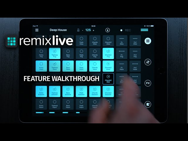 Remixlive - Feature Walkthrough