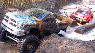 3 TRUCKS GET MUDDY! FiRST TiME ON COURSE as a FAMiLY! #ProudParenting | RC ADVENTURES