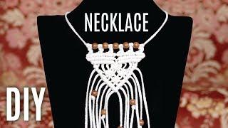 Easy Macramé Necklace Tutorial By Macrame School | DIY
