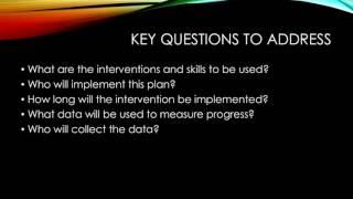 The Behavior Intervention Plan