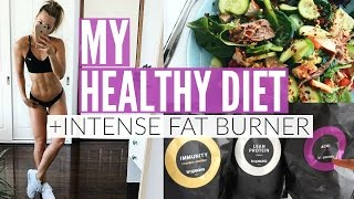 How To Eat Healthy   MY DIET + INTENSE FAT BURNING Workout