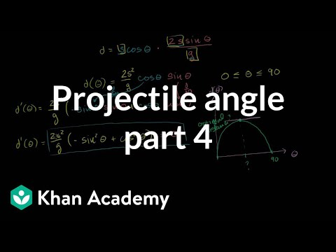 optimal angle for a projectile part 4 finding the optimal angle and