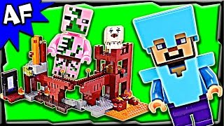 Lego Minecraft NETHER FORTRESS 21122 Stop Motion Build Review